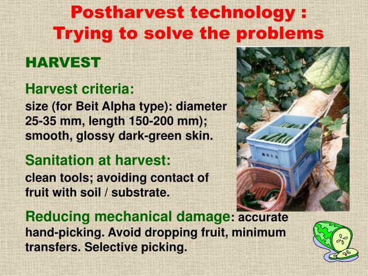 Postharvest technology :