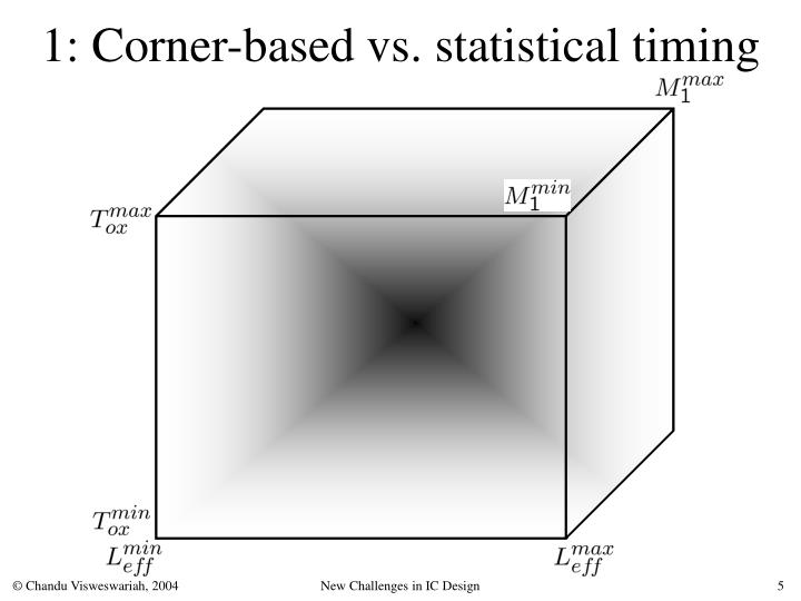 1: Corner-based vs. statistical timing