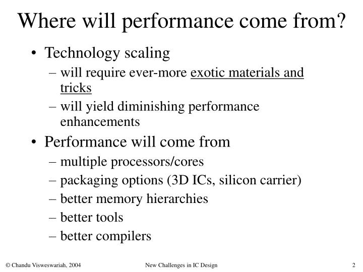Where will performance come from
