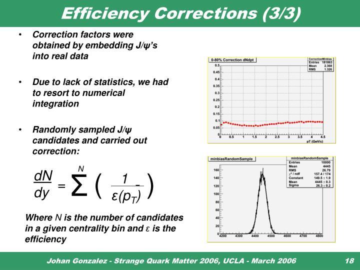 Efficiency Corrections (3/3)