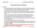 transmit spectral mask