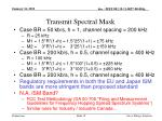 transmit spectral mask1