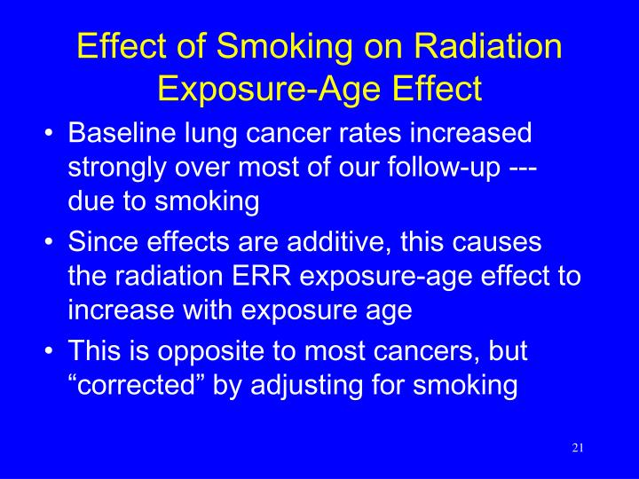 cancer environment age and exposure s effect Some exposures in childhood may increase risk of cancer decades later   carcinogenic effects of exposure will be modulated by age-related.