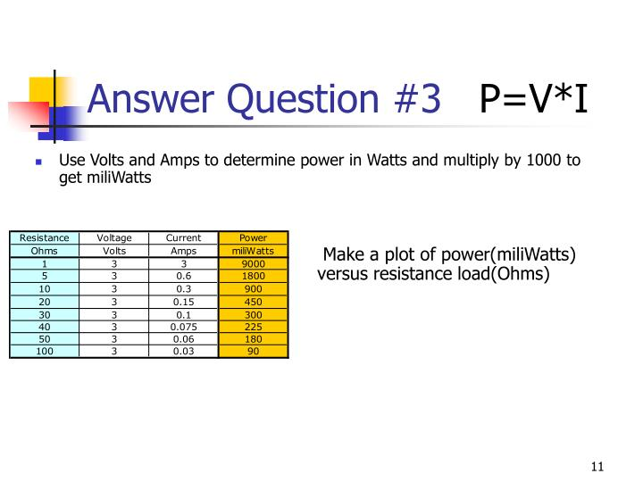 Answer Question #3