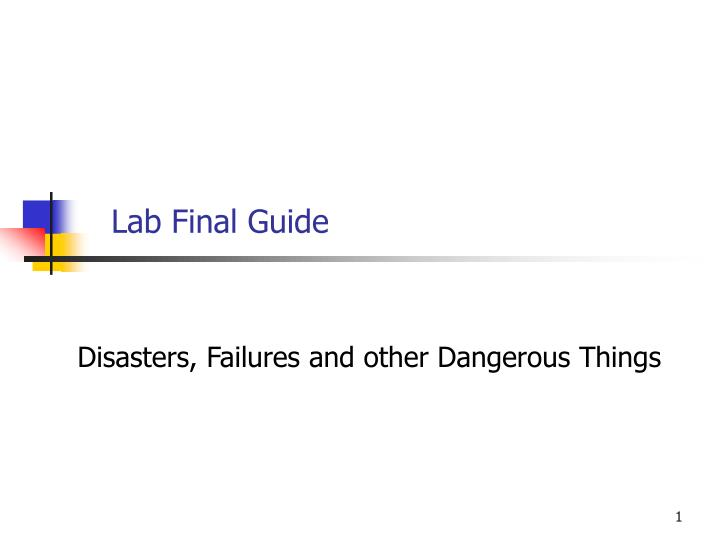 Lab final guide