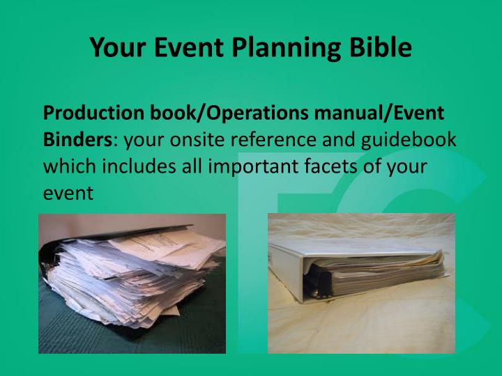 Your Event Planning Bible