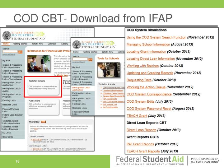 COD CBT- Download from IFAP