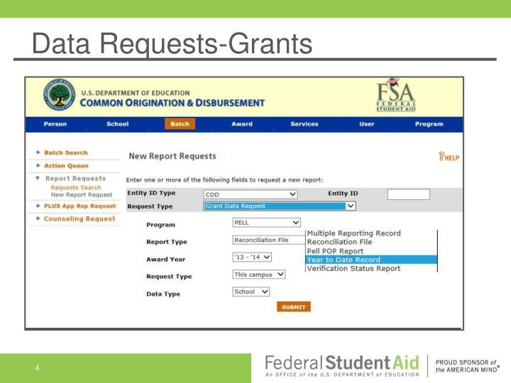 Data Requests-Grants