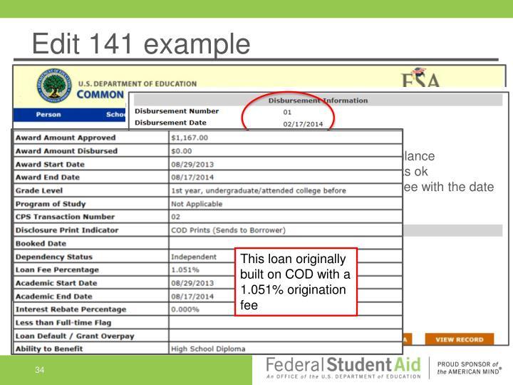 Edit 141 example