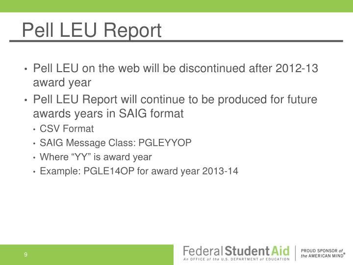 Pell LEU Report