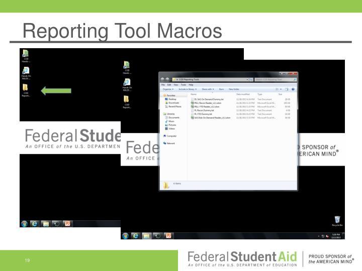 Reporting Tool Macros