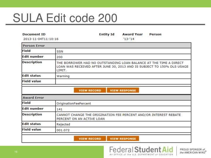 SULA Edit code 200