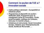 comment le soutien de l ue a l innovation sociale