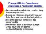 pourquoi l union europ enne s interesse a l innovation sociale