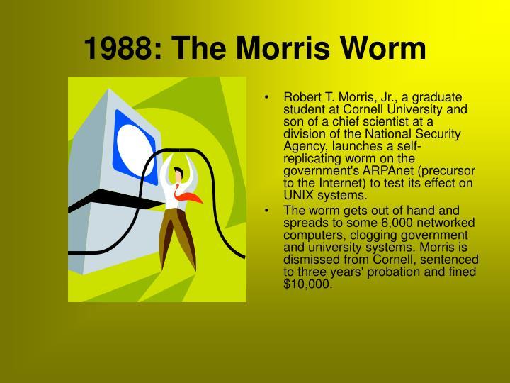 1988: The Morris Worm