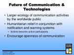 future of communication technologies