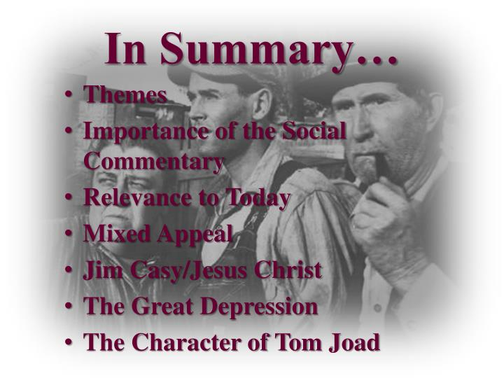 tom joad character development