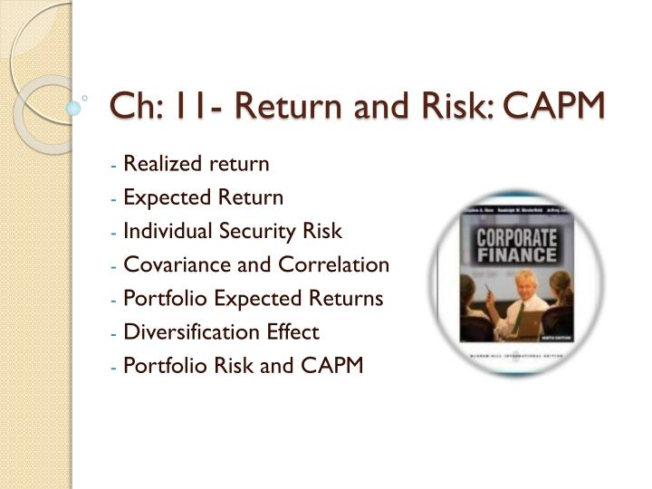 ch 11 return and risk capm n.