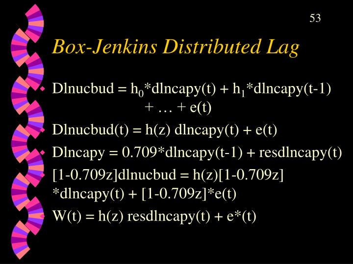 Box-Jenkins Distributed Lag