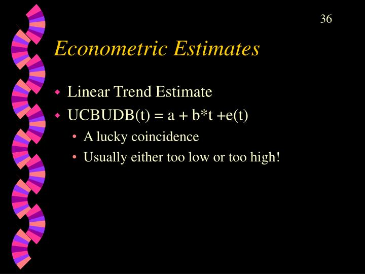 Econometric Estimates