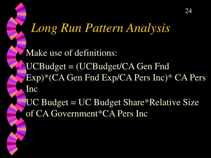 Long Run Pattern Analysis