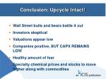 conclusion upcycle intact