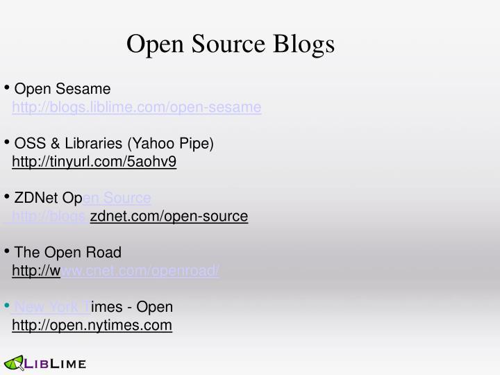 Open Source Blogs