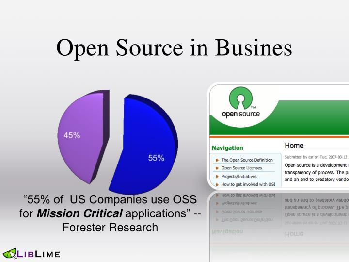 Open Source in Busines
