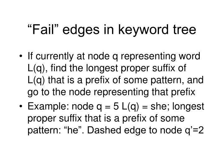 """Fail"" edges in keyword tree"