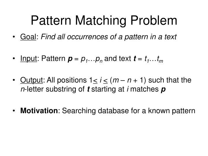 Pattern Matching Problem