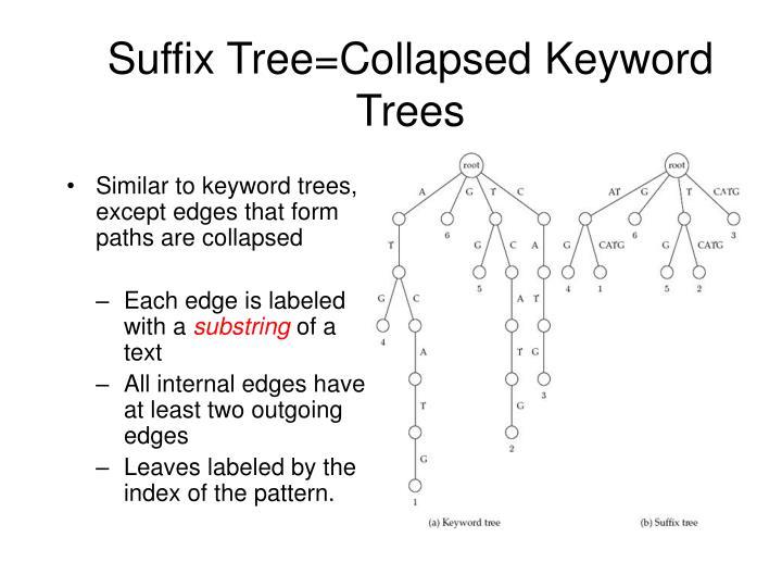 Suffix Tree=Collapsed Keyword Trees