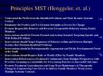 principles mst henggeler et al
