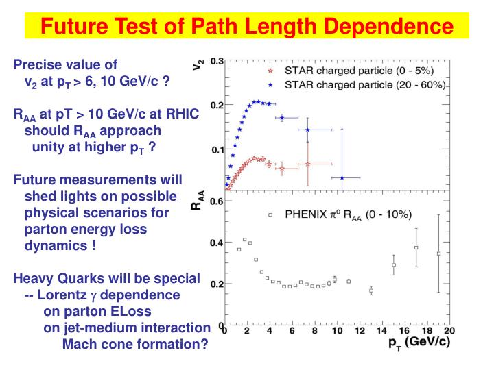Future Test of Path Length Dependence