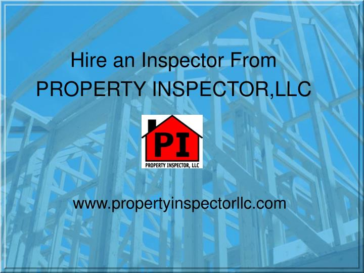 Hire an Inspector From