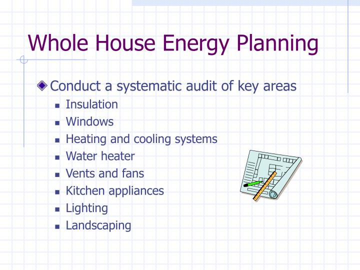 Whole House Energy Planning