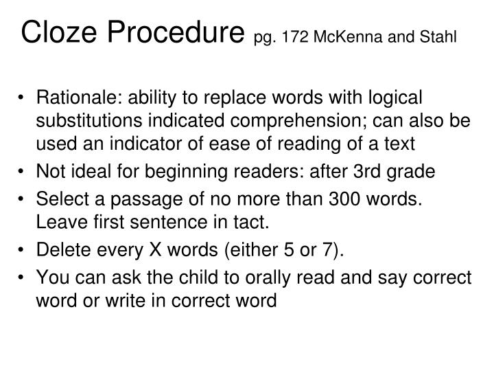 Cloze Procedure