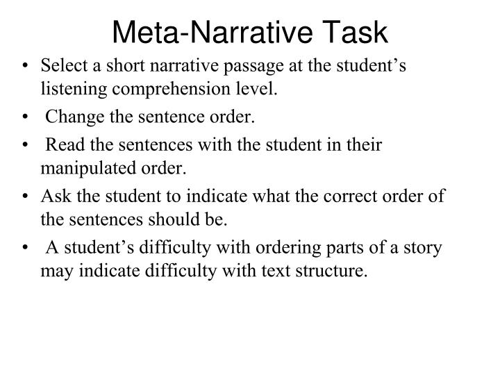 Meta-Narrative Task
