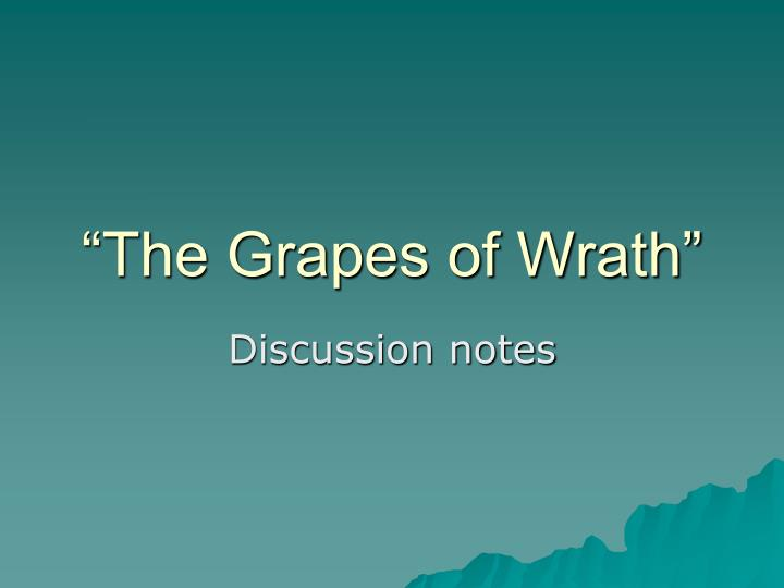 grapes of wrath ch 5 8 theme analysis Learn all about how the in the grapes of wrath such as tom joad and ma joad contribute to the story and the grapes of wrath | character analysis.