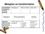 metaphor as transformation