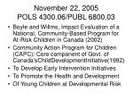 november 22 2005 pols 4300 06 publ 6800 034