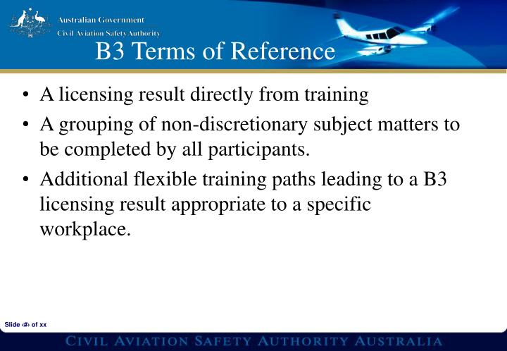 A licensing result directly from training