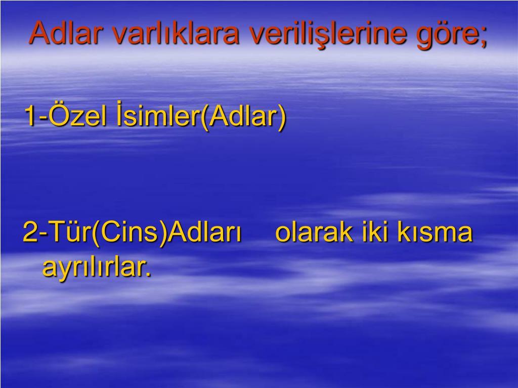 Adlar ppt - Ä°sÄ°mler(adlar) powerpoint presentation, free