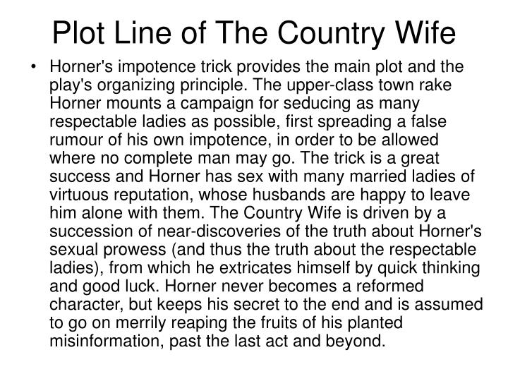 the country wife plot