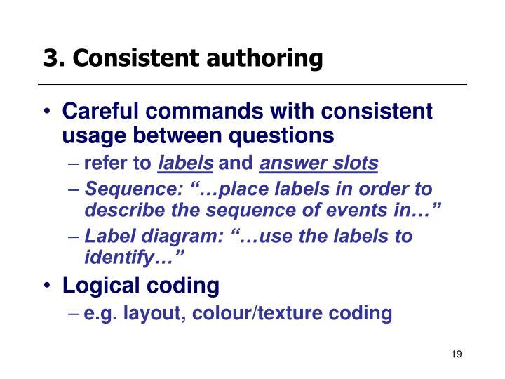 3. Consistent authoring