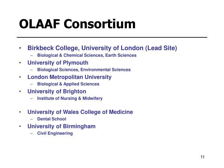 OLAAF Consortium
