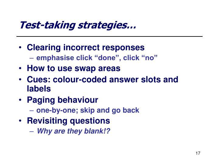 Test-taking strategies…