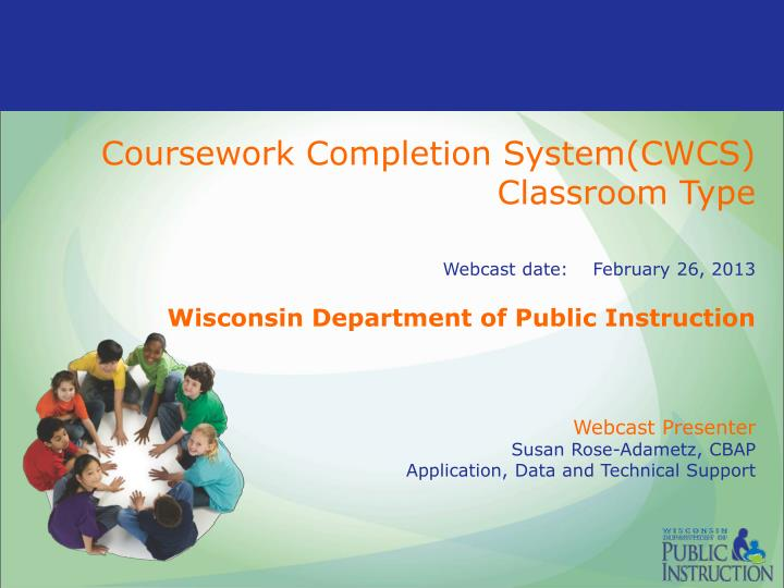 dpi coursework completion State superintendent of public instruction tony evers, department of public instruction 125 s webster street po box 7841.