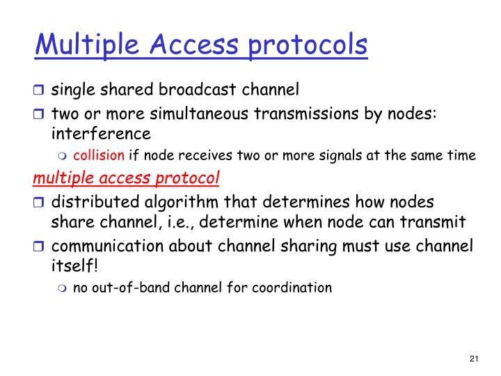 Multiple Access protocols
