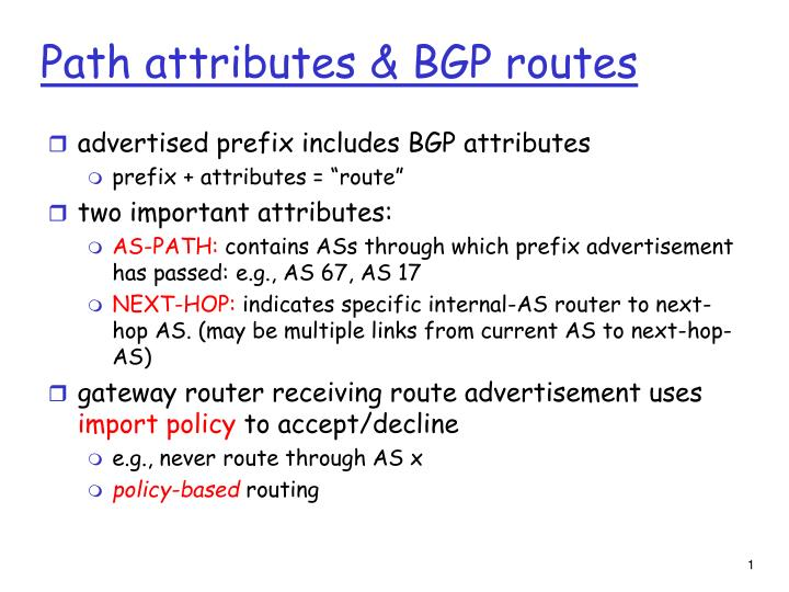 Path attributes bgp routes
