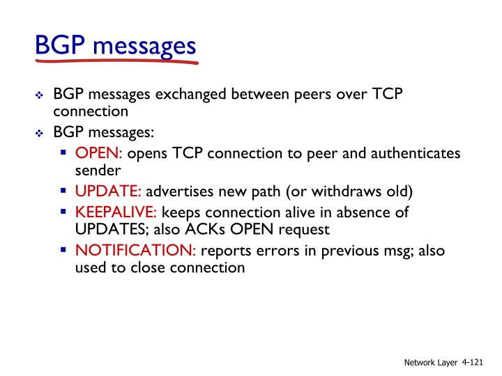 BGP messages